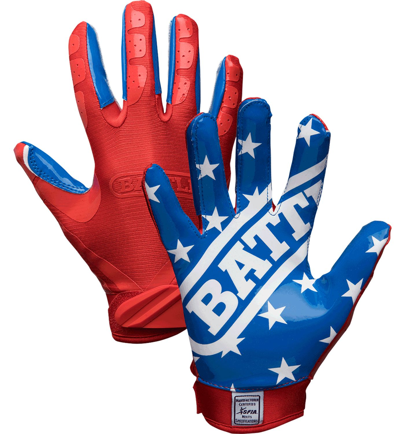 Battle Adult American Flag Limited Edition Receiver Gloves