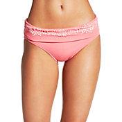 CALIA by Carrie Underwood Women's Laser Cut Foldover Bikini Bottoms