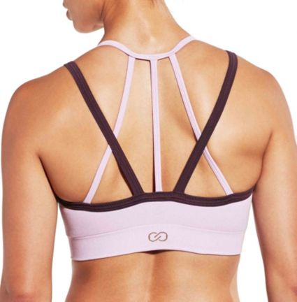 181413afb2 CALIA by Carrie Underwood Women s Inner Power Strappy Halter Seamless  Heather Sports Bra