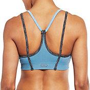 CALIA by Carrie Underwood Women's Inner Power V-Back Strap Seamless Striped Sports Bra