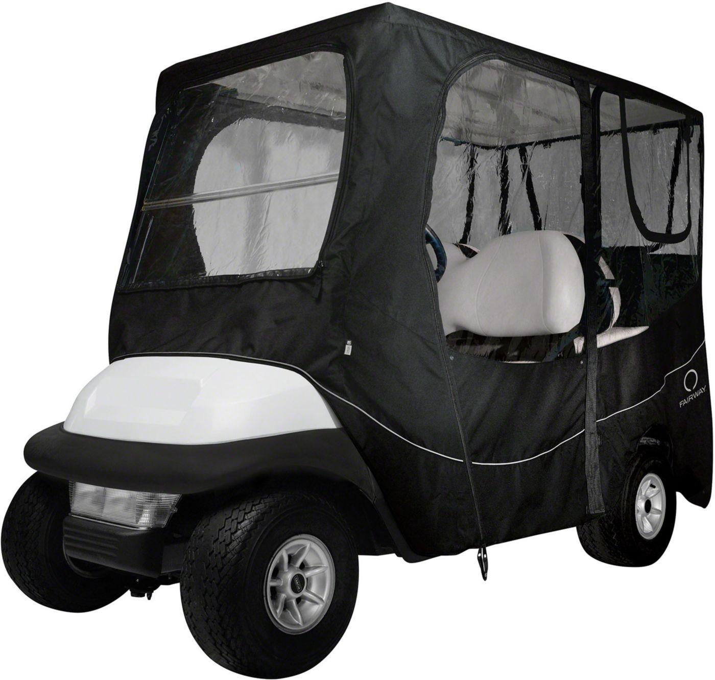 Classic Accessories Fairway Deluxe Long Roof Black Golf Cart Enclosure