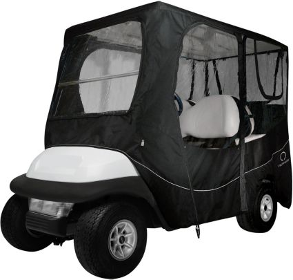 Classic Accessories Fairway Deluxe Long Roof Black Golf Cart Enclosure