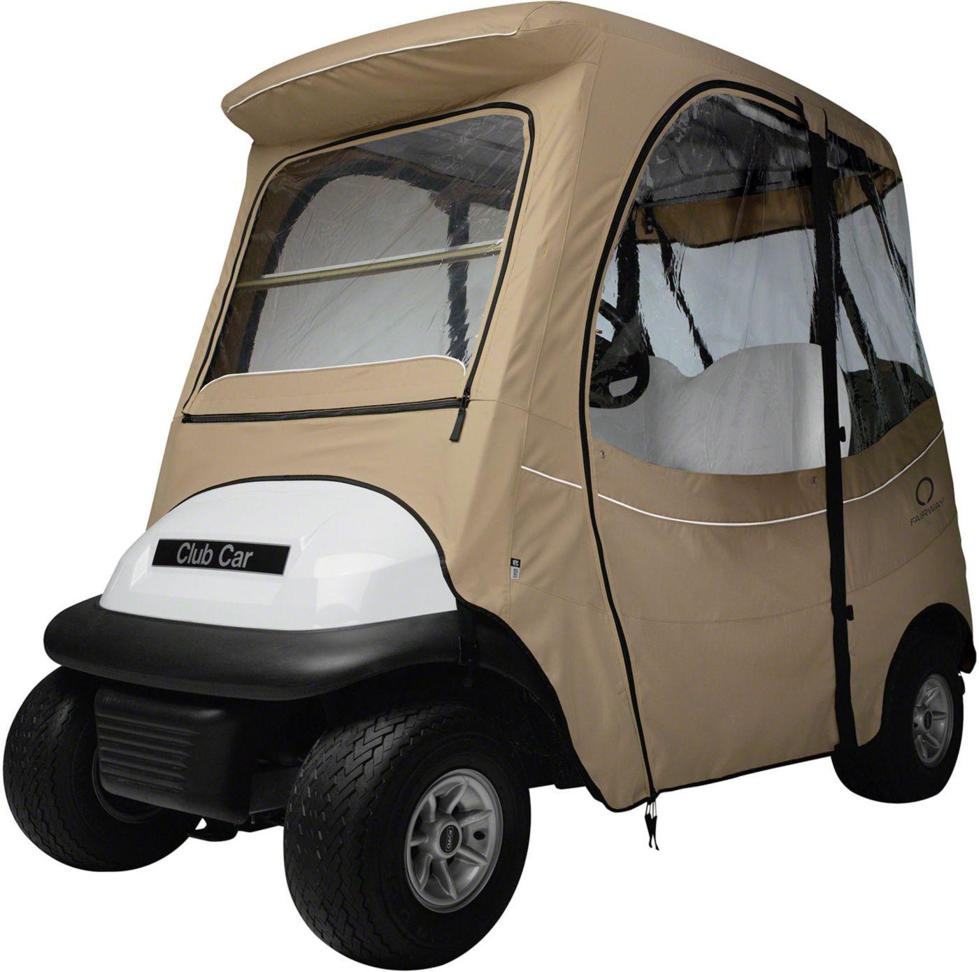 Classic Accessories Fairway FadeSafe Precedent Short Roof Khaki Golf Cart Enclosure