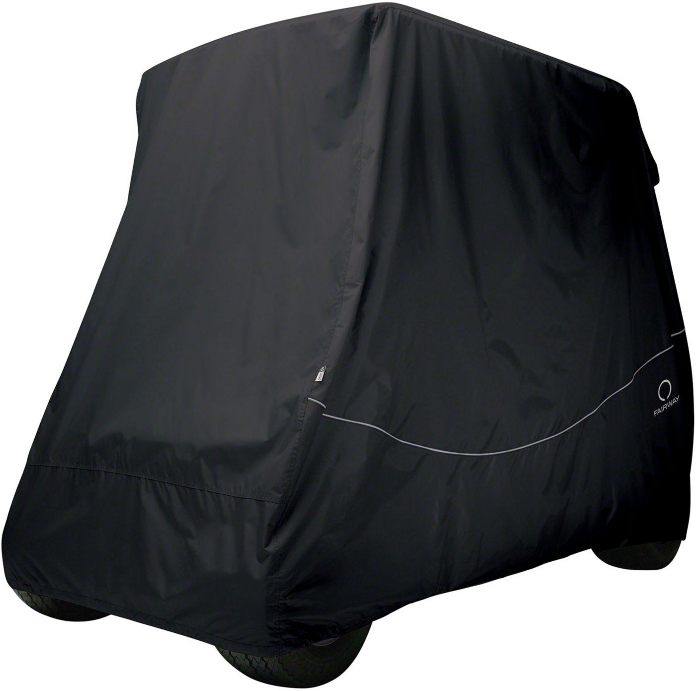 Classic Accessories Fairway Quick-Fit Short Golf Cart Cover - Black