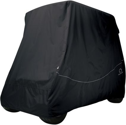 Classic Accessories Fairway Quick-Fit Short Roof Black Golf Cart Cover