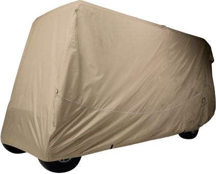 Classic Accessories Fairway Quick-Fit Extra Long Roof Khaki Golf Cart Cover
