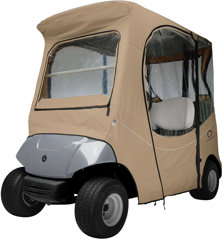 Classic Accessories Fairway FadeSafe Yamaha Khaki Golf Cart Enclosure