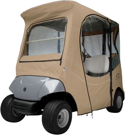 Classic Accessories Fairway FadeSafe Yamaha Khaki Golf Cart Enclosure