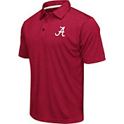 Colosseum Men's Alabama Crimson Tide Crimson Heathered Performance Polo