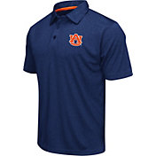 Colosseum Men's Auburn Tigers Blue Heathered Performance Polo