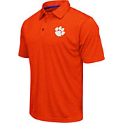 Colosseum Men's Clemson Tigers Orange Heathered Performance Polo