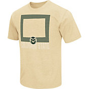 Colosseum Men's Colorado State Rams Gold State of the Union T-Shirt