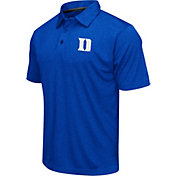 Colosseum Men's Duke Blue Devils Duke Blue Heathered Performance Polo