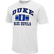 Colosseum Men's Duke Blue Devils White Dual-Blend T-Shirt