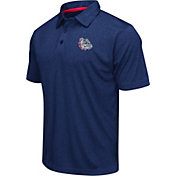 Colosseum Men's Gonzaga Bulldogs Blue Heathered Performance Polo