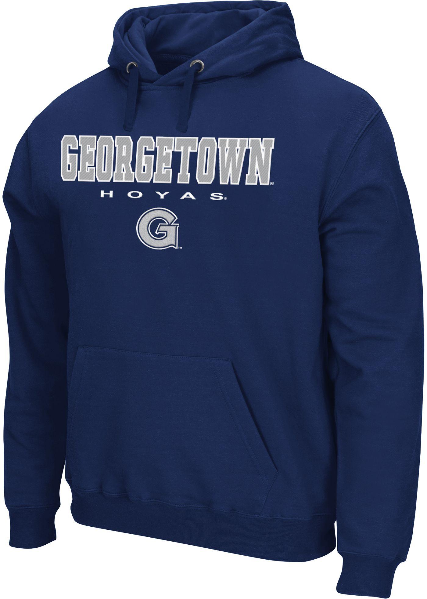 Colosseum Men's Georgetown Hoyas Blue Performance Fleece Pullover Hoodie