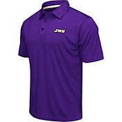 Colosseum Men's James Madison Dukes Purple Heathered Performance Polo