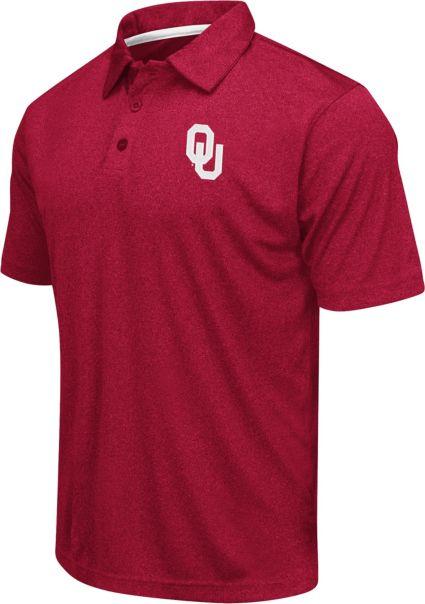 Colosseum Athletics Men's Oklahoma Sooners Crimson Heathered Performance Polo