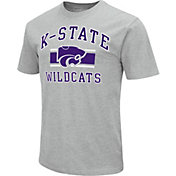 Colosseum Men's Kansas State Wildcats Grey Dual-Blend T-Shirt
