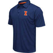 Colosseum Men's Illinois Fighting Illini Blue Heathered Performance Polo