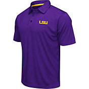 Colosseum Men's LSU Tigers Purple Heathered Performance Polo
