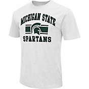 Colosseum Men's Michigan State Spartans White Dual-Blend T-Shirt