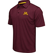 Colosseum Men's Minnesota Golden Gophers Maroon Heathered Performance Polo