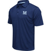 Colosseum Men's Maine Black Bears Navy Heathered Performance Polo