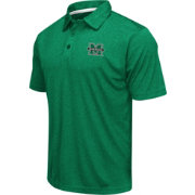 Colosseum Men's Marshall Thundering Herd Green Heathered Performance Polo