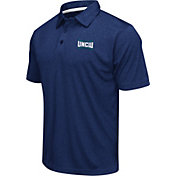 Colosseum Men's UNC Wilmington Seahawks Blue Heathered Performance Polo