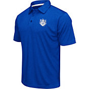 Colosseum Men's St. Louis Billikens Blue Heathered Performance Polo