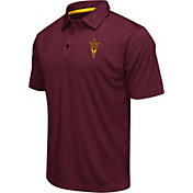 Colosseum Men's Arizona State Sun Devils Maroon Heathered Performance Polo
