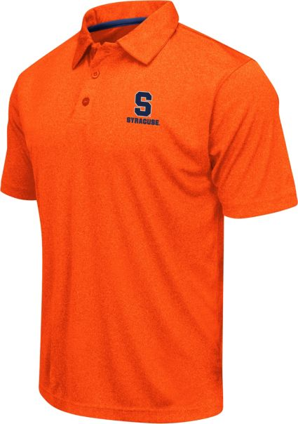 Colosseum Athletics Men's Syracuse Orange Orange Heathered Performance Polo