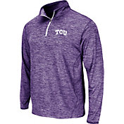 Colosseum Men's TCU Horned Frogs Purple Action Pass Quarter Zip Long Sleeve Performance Shirt