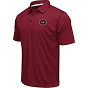 Colosseum Men's Temple Owls Cherry Heathered Performance Polo