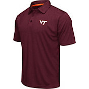 Colosseum Men's Virginia Tech Hokies Maroon Heathered Performance Polo