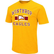 Colosseum Men's Winthrop Eagles Gold Dual Blend T-Shirt