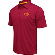 Colosseum Men's Iowa State Cyclones Cardinal Heathered Performance Polo