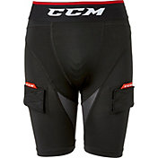 CCM Senior Hockey Compression Shorts with Jock Tabs