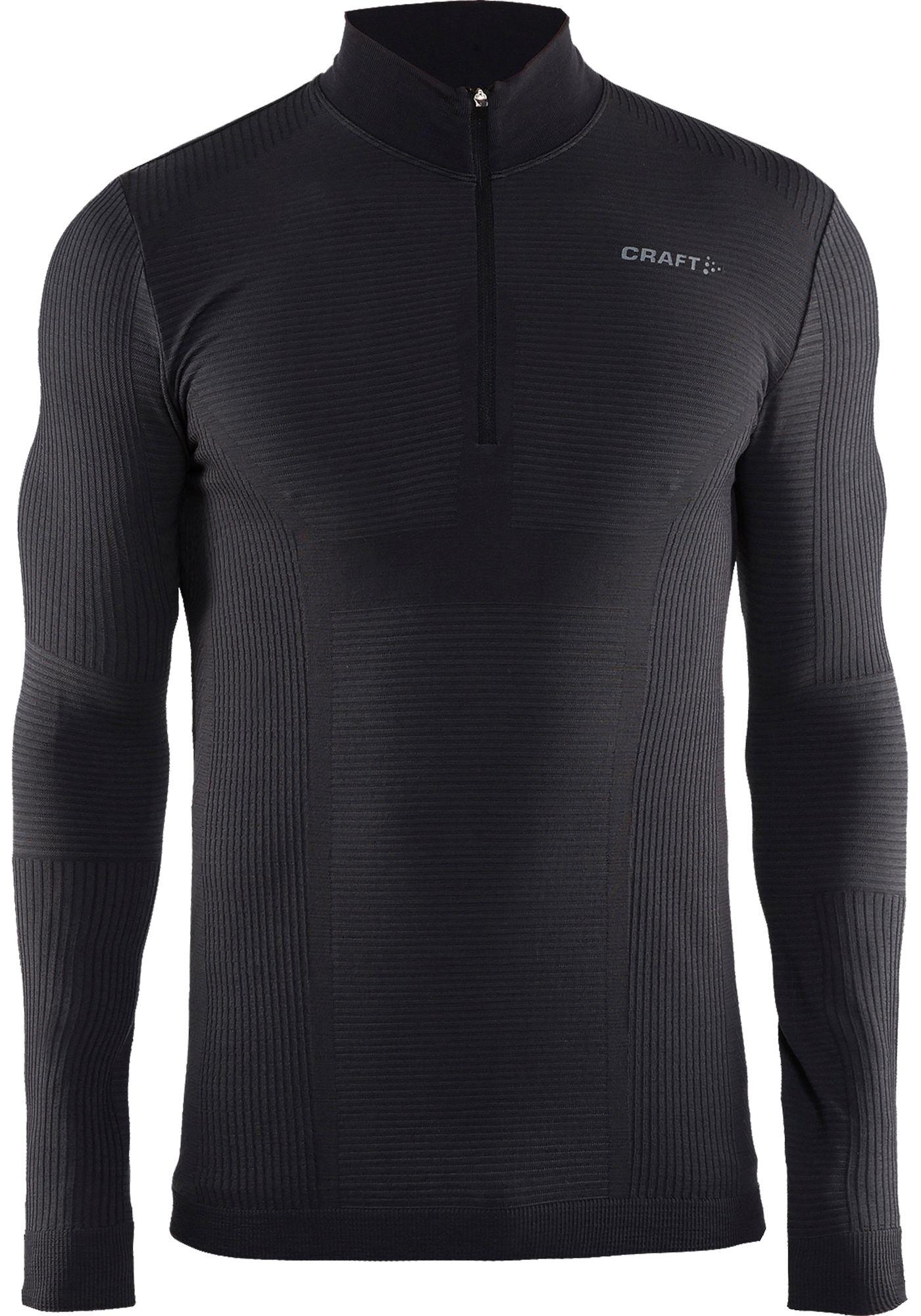 Craft Men's Wool Comfort Half Zip Mockneck Long Sleeve Shirt