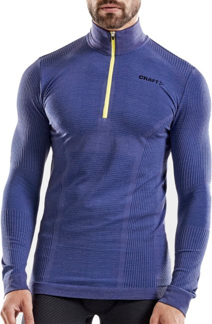 Craft Men s Wool Comfort Half Zip Mockneck Long Sleeve Shirt. noImageFound 503ee5616