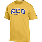 Champion Men's East Carolina Pirates Gold T-Shirt