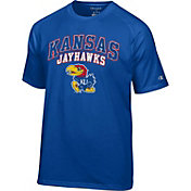 Champion Men's Kansas Jayhawks Grey T-Shirt