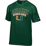Champion Men's Miami Hurricanes Green T-Shirt