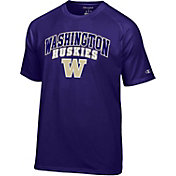 Champion Men's Washington Huskies Purple Word Logo T-Shirt