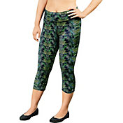 Champion Women's Plus Size Absolute SmoothTec Band Printed Capris