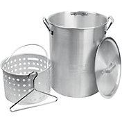 Cookout Supply 30 Quart Aluminum Pot with Basket