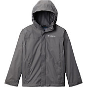 Columbia Boys' Watertight Rain Jacket in City Grey