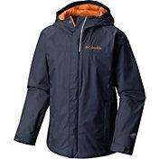 Columbia Boys' Watertight Rain Jacket in Collegiate Navy