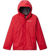 Columbia Boys' Watertight Rain Jacket in Mountain Red 2
